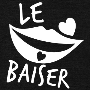 le baiser FRENCH for the KISS! Zip Hoodies/Jackets - Unisex Fleece Zip Hoodie by American Apparel