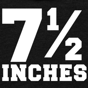 SIZE MATTERS 7 and one half inches 1/2 Zip Hoodies/Jackets - Unisex Fleece Zip Hoodie by American Apparel