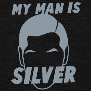 MY MAN IS SILVER wife of grey haired man Zip Hoodies/Jackets - Unisex Fleece Zip Hoodie by American Apparel