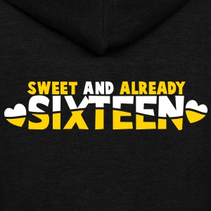 SWEET and already Sixteen! with hearts Zip Hoodies/Jackets - Unisex Fleece Zip Hoodie by American Apparel