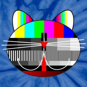 tv - television - test card cat T-Shirts - Unisex Tie Dye T-Shirt