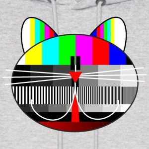tv - television - test card cat Hoodies - Men's Hoodie