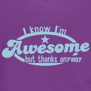 I know I'm AWESOME- but thanks anyway Zip Hoodies/Jackets - Unisex Fleece Zip Hoodie by American Apparel
