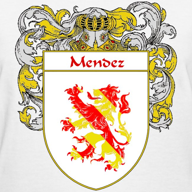 415197 Mendez Coat Of Armsfamily Crest Womens T Shirt