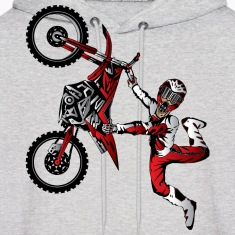 Stunt Dirt Biker Hoodies