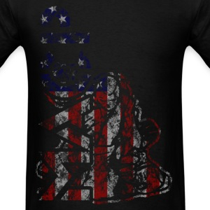 MACP Knee Logo in USA Flag T-Shirts - Men's T-Shirt