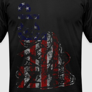 MACP Knee Logo in USA Flag T-Shirts - Men's T-Shirt by American Apparel