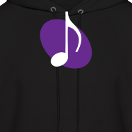 Design ~ Purple Music Emblem Hoodie