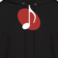 Design ~ Red Music Emblem Hoodie
