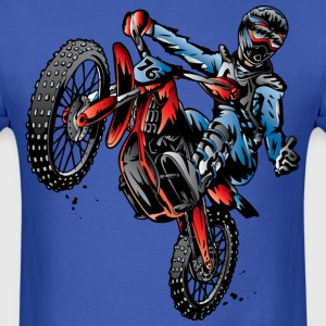 Motocross Dirt Bike Stunt Rider T-Shirts - Men's T-Shirt