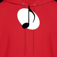 Design ~ White Music Emblem Hoodie