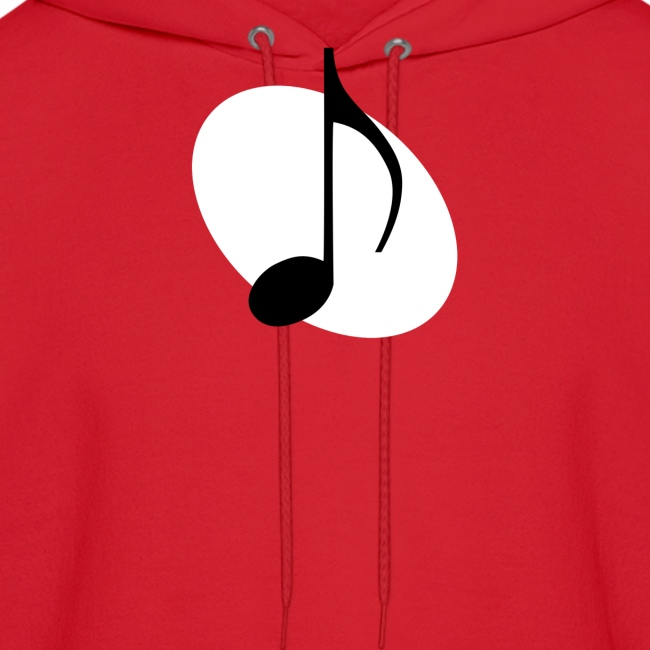 White Music Emblem Hoodie