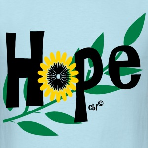 hope_with_sunflower and leafs T-Shirts - Men's T-Shirt