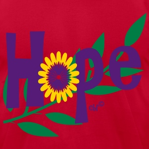 hope_with_sunflower and leafs T-Shirts - Men's T-Shirt by American Apparel
