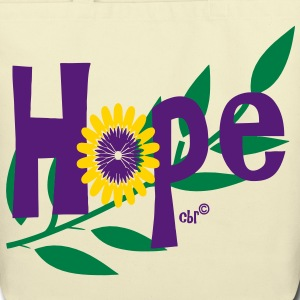 hope_with_sunflower and leafs Bags  - Eco-Friendly Cotton Tote