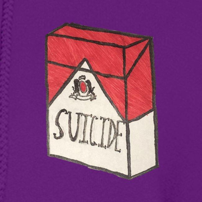 "Womens ""Suicide Cigarette Box Logo"" Hoodie (Grey)"