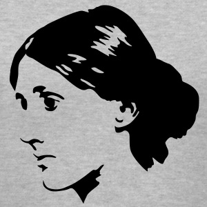 Virginia Woolf Women's T-Shirts - Women's V-Neck T-Shirt