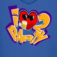 Design ~ I Love To Party. TM  mens hoodie