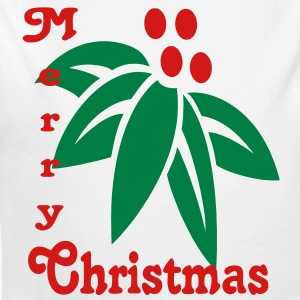 poinsetta_merry_christmas2 Baby & Toddler Shirts - Long Sleeve Baby Bodysuit