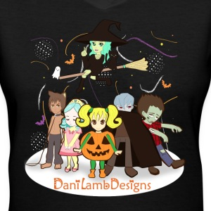 Halloween Crew DaniLambDesigns - Women's V-Neck T-Shirt