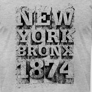 New York Bronx 1874 (black) - Men's T-Shirt by American Apparel