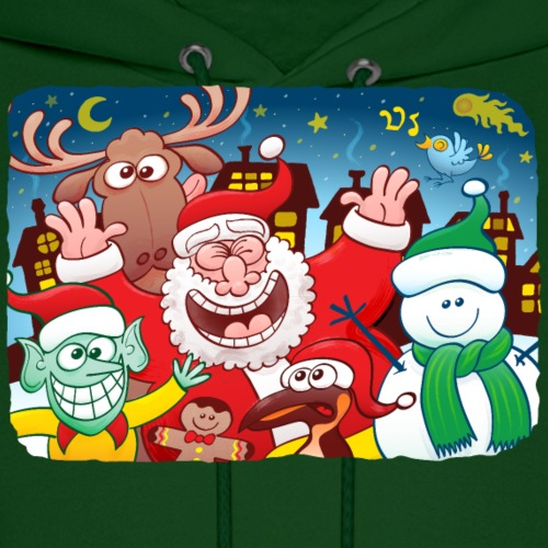 Santa Claus and friends celebrating Christmas