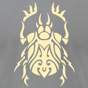 Beetle Tribal Tattoo 3 T-Shirts - Men's T-Shirt by American Apparel