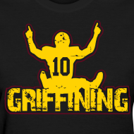 Design ~ Griffining Shirt on Black Womens