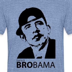 Men's BRObama Tri-color - Unisex Tri-Blend T-Shirt