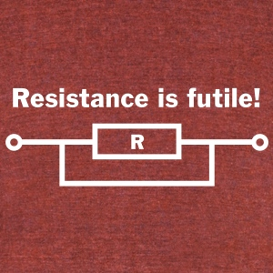 Resistance is futile! T-Shirts - Unisex Tri-Blend T-Shirt by American Apparel