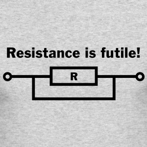 Resistance is futile! Long Sleeve Shirts - Men's Long Sleeve T-Shirt by Next Level