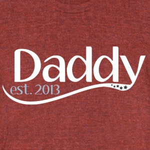New Daddy Est 2013 T-Shirts - Unisex Tri-Blend T-Shirt by American Apparel