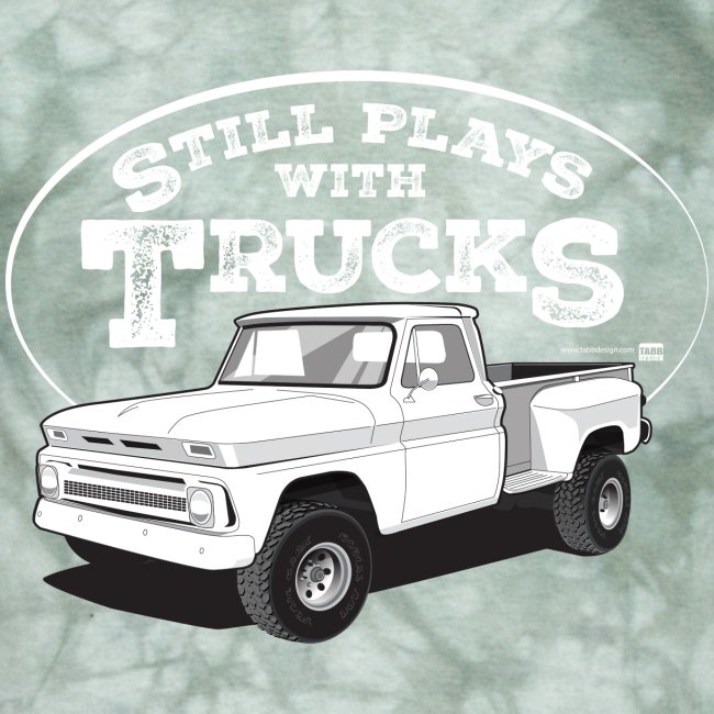 1964-66 C10 Longbed Stepside 4x4 Tee (White graphic)