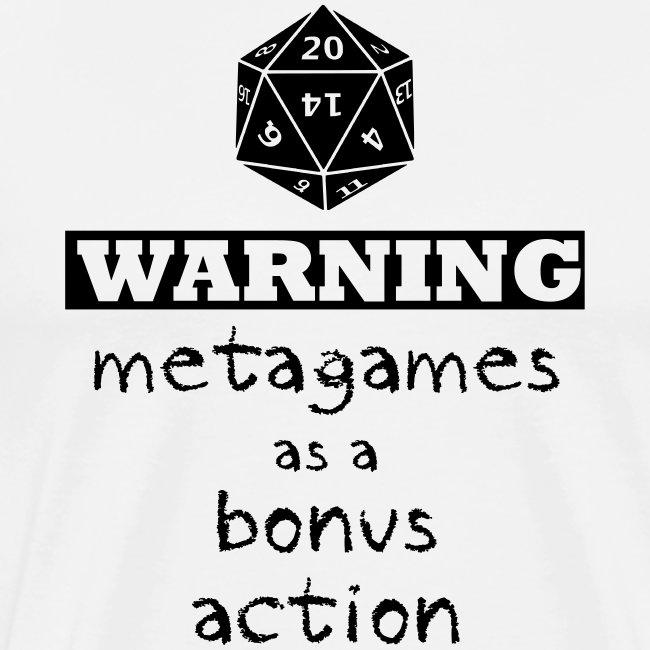 Warning Meta Gaming Men's Premium T-Shirt
