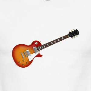 Sunburst Electric Guitar: Men's Ringer T-Shirt - Men's Ringer T-Shirt