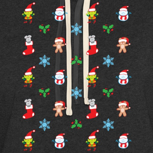 Teddy, mouse, elf and snowman Christmas pattern