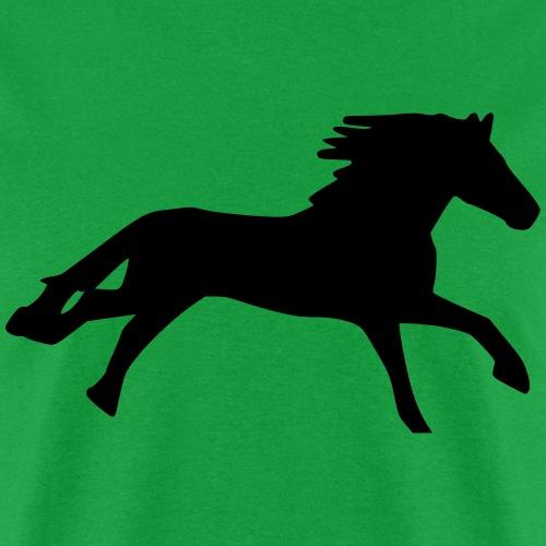Horse black running