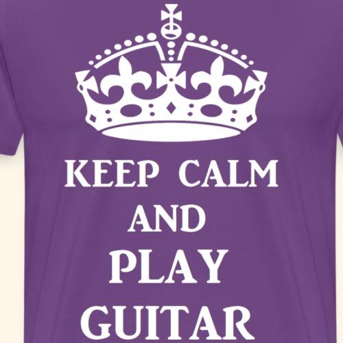 keep calm play guitar wht