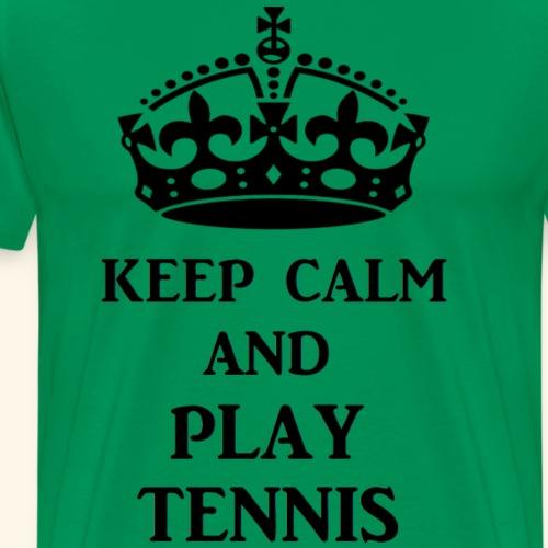 keep calm play tennis blk