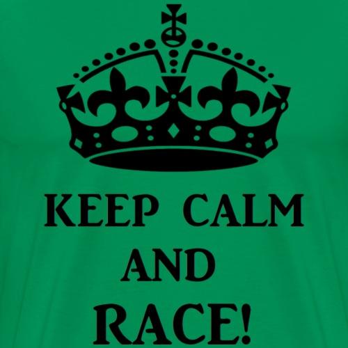 keep calm race blk