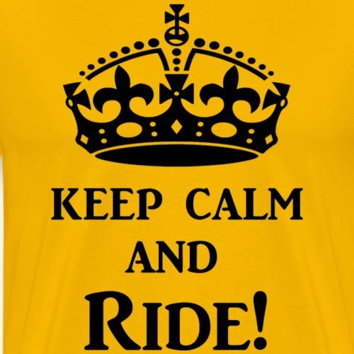 keep calm ride blk