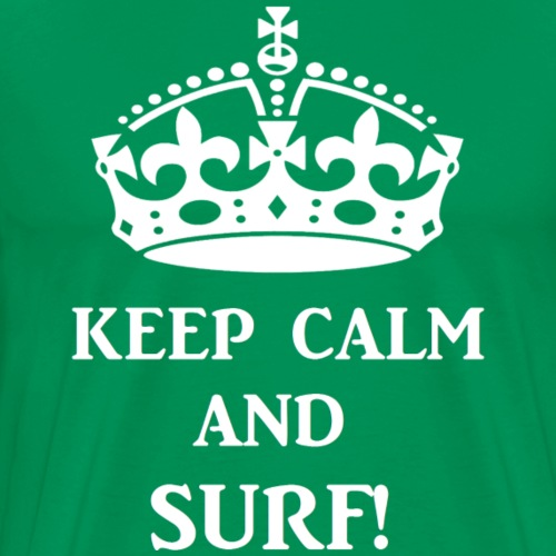 keep calms surf wht