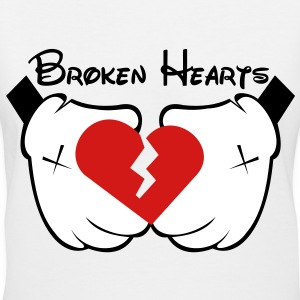 broken_hearts - Women's V-Neck T-Shirt