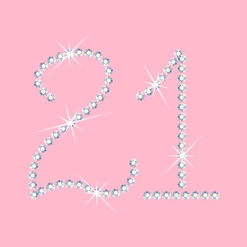 Faux Rhinestone 21st Birthday