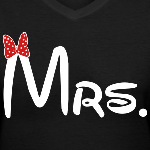 Mrs. - Women's V-Neck T-Shirt