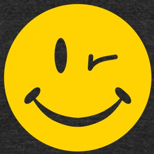 Blinking Smiley T-Shirts - Unisex Tri-Blend T-Shirt by American Apparel