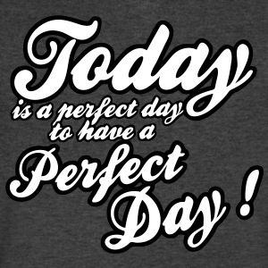 today is a perfect day T-Shirts - Men's V-Neck T-Shirt by Canvas