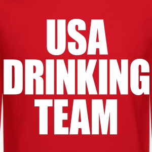 USA Drinking Team Long Sleeve Shirts - Crewneck Sweatshirt
