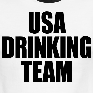 USA Drinking Team T-Shirts - stayflyclothing.com - Men's Ringer T-Shirt