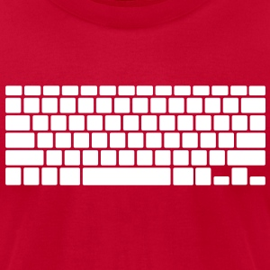 Keyboard T-Shirts - Men's T-Shirt by American Apparel